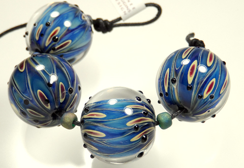 Renee Wiggins Design Peacock Blue Bead Sets
